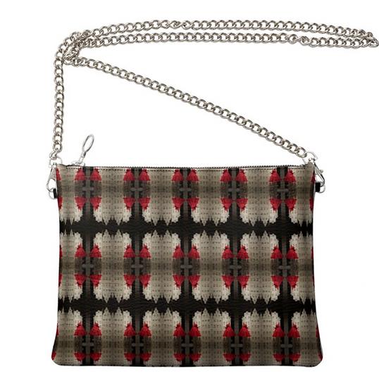 """The Ann Marie Leather & Chain Crossbody in """"Dressy Rouge"""""""