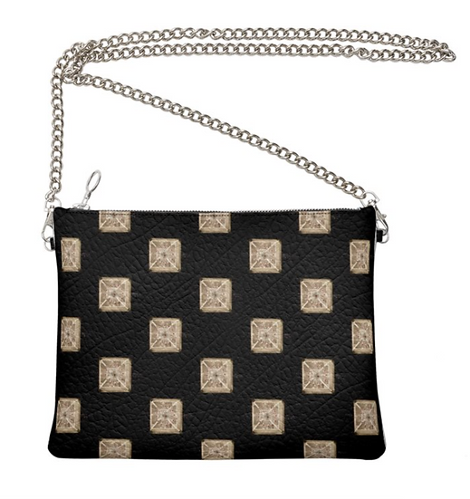"""The Ann Marie Leather & Chain Crossbody in """"Diamonds in the Sky"""""""