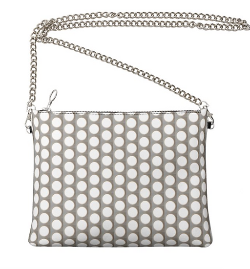 "The Ann Marie Leather & Chain Crossbody in ""Que Seurat Seurat"""