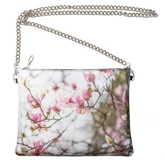 """The Ann Marie Leather & Chain Crossbody in """"Magnolia Jane"""""""