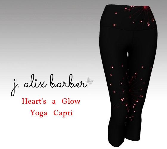 J.A. Be the Change - Heart's A Glow Yoga Capri