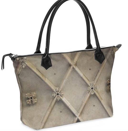 "The J. Elizabeth Leather Zip Handbag in ""Structure"""