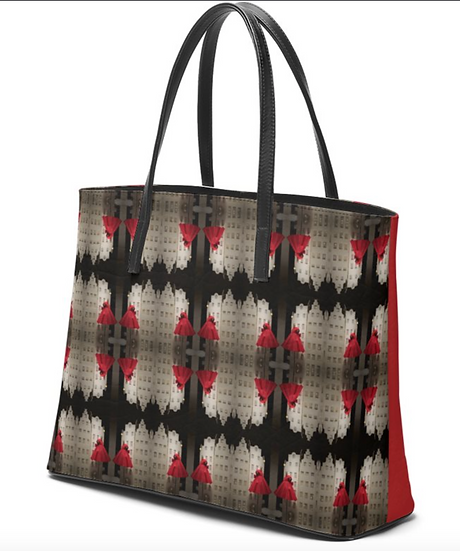 """The Betty Jane Roth Leather Tote in """"Dressy Rouge"""""""