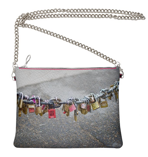 "The Ann Marie Leather & Chain Crossbody in ""Love is Love"""