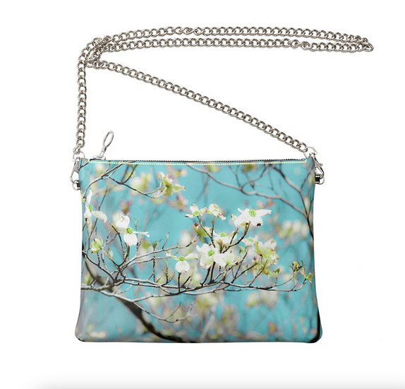 "The Ann Marie Leather & Chain Crossbody in ""Southern Dogwood"""