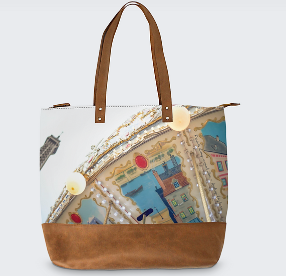 "The Meara May Tote in ""Parisel"""
