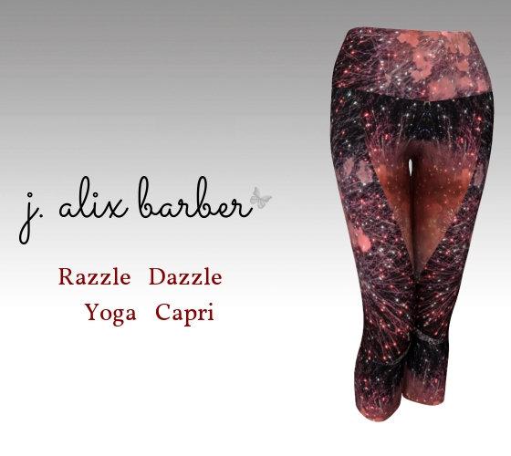 J.A. Be the Change - Razzle Dazzle Yoga Capri