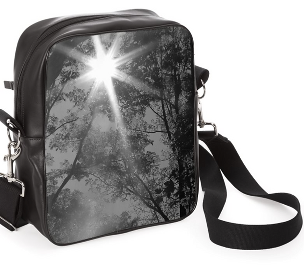 """The Alannah All Leather Messenger in """"Through the Trees"""""""