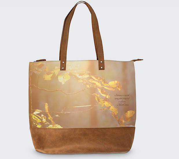 Meara May Leather Tote in Serendipity