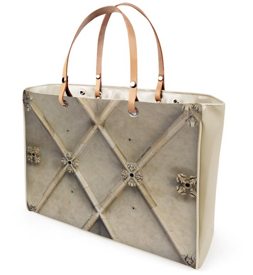 "The T.L. Sophisticate Handbag  in ""Structure"" (Shown: Ivory Beige Patent Vinyl)"
