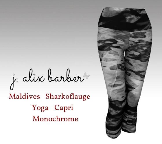 J.A. Be the Change - Maldives Sharkoflauge Yoga Capri