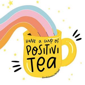 rainbow from a cup of positivitea
