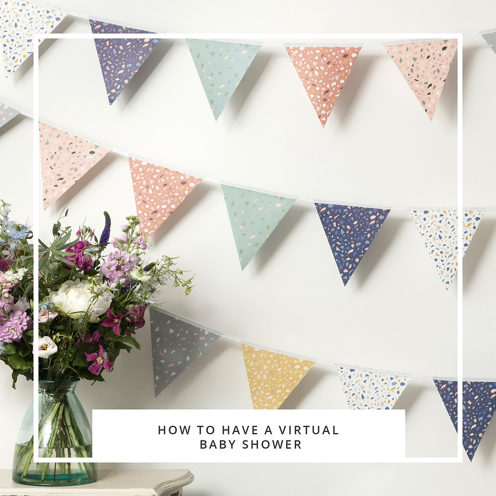flowers and bunting