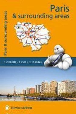 Paris & Surrounding Areas Map  ,