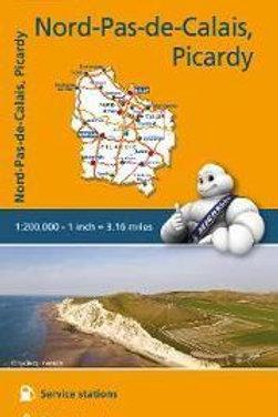 Nord Pas De Calais Picardy Map  ,