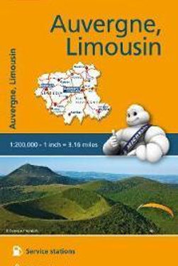 Auvergne Limousin Map  ,