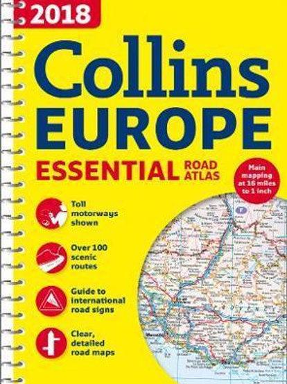 2018 Collins Essential Road Atlas Europe Maps Collins