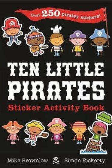 Ten Little Pirates Sticker Activity Book Mike Brownlow