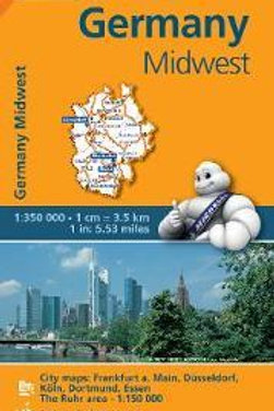 Germany Midwest REGIONAL Map 543  ,
