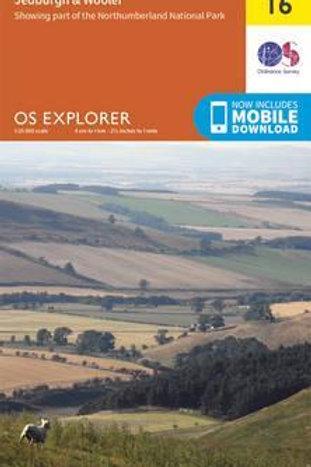 EXP OL16 Cheviot Hills Jedburgh & Wooler  ,