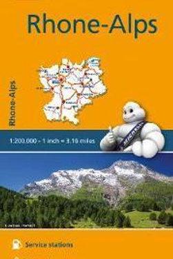Rhone Alps Map  ,