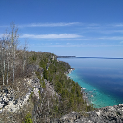 View from main Bruce Trail to Cabot's Head
