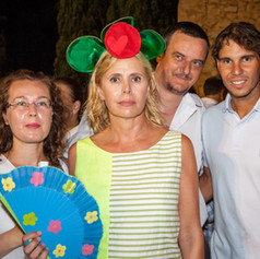 Ostras Daniel Sorlut Agatha Ruiz de la Prada and Rafael Nadal celebrating the first anniversary of Ostras Daniel Sorlut in Mallorca