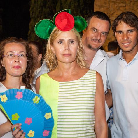 Ostras Daniel Sorlut Agatha Ruiz de la Prada and Rafael Nadal celebrating the first anniversary of Ostras Daniel Sorlut in Mallorca