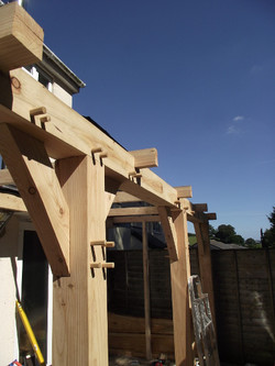 Larch Timber Frame Totnes Joinery
