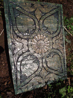 Carved Painted Panel