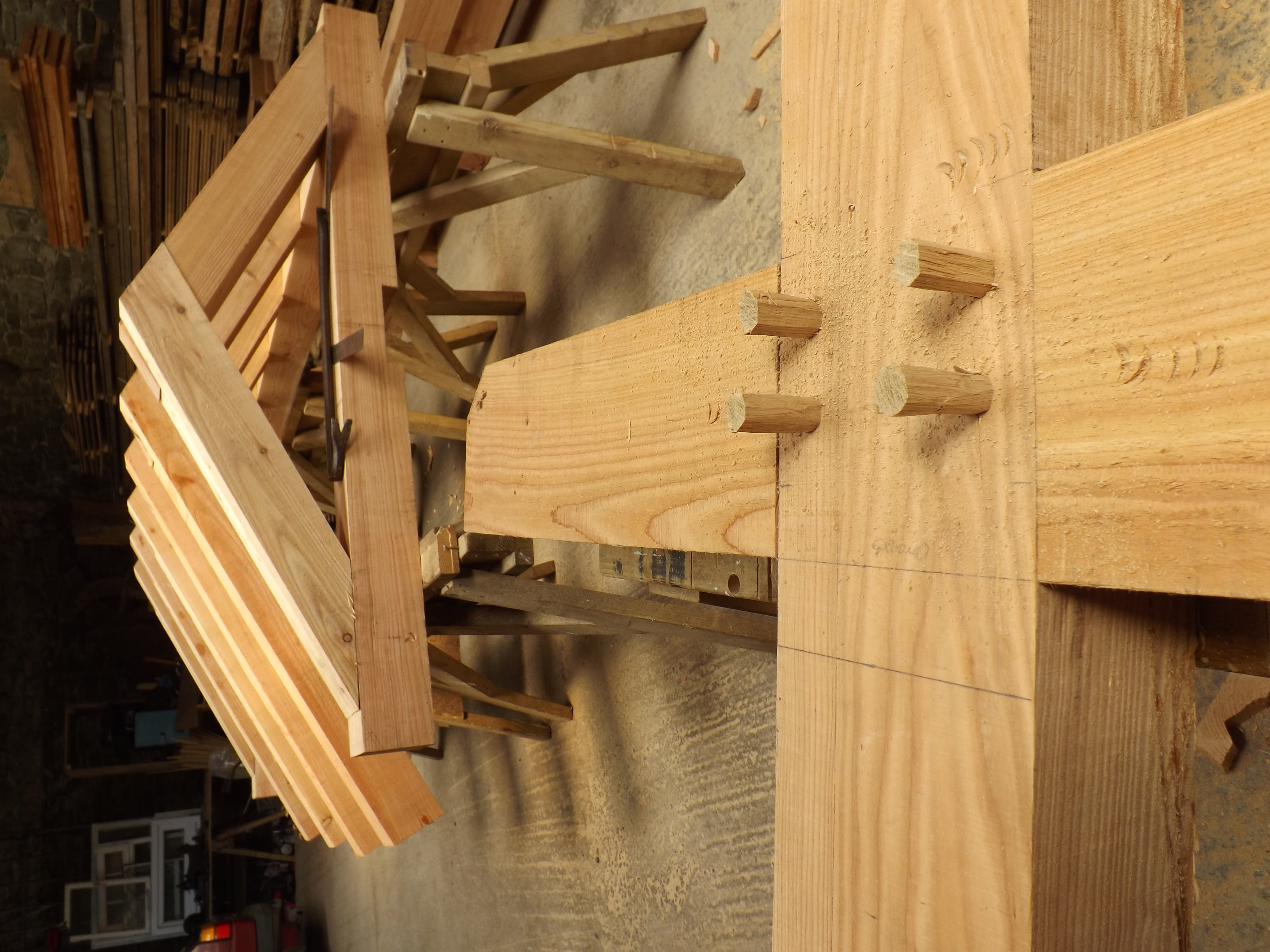 Drawbore Mortice and Tenon
