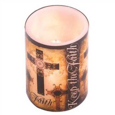 Keep the Faith Flameless Candle