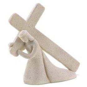 Sandcast Jesus and Cross