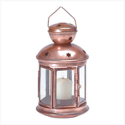 Star Pattern Metal Candle Lantern