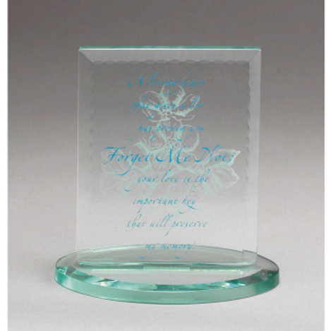 FREE STANDING BEVELED GLASS PLAQUE