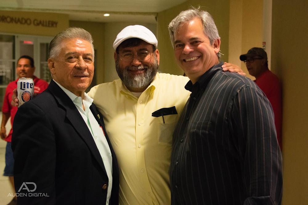 Senator Barrientos, Frank Fuentes, Mayor Steve Adler