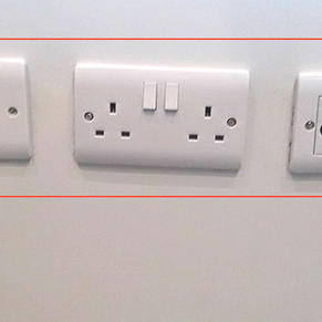 Poorly aligned sockets and switches