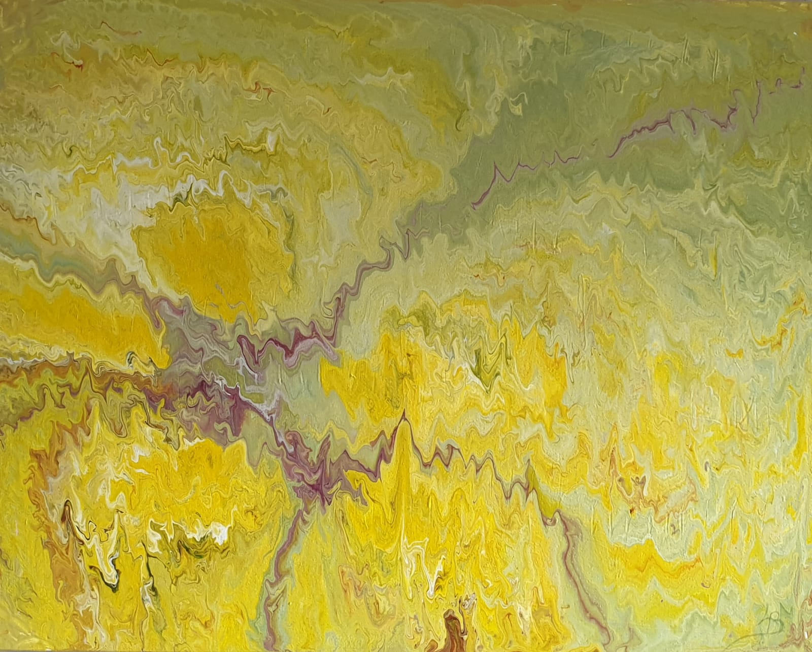 Yellow corner-Acrylique 70x90