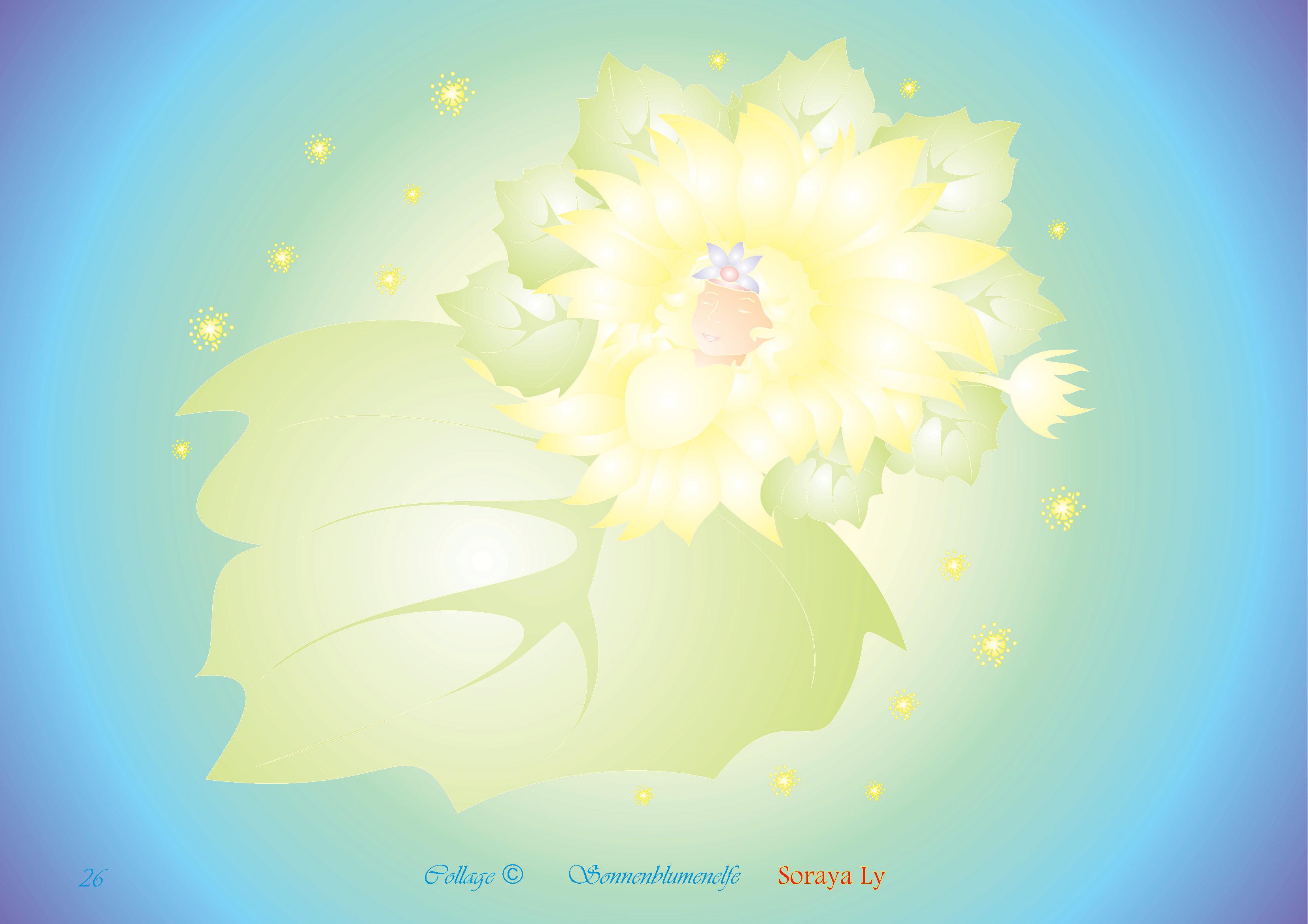 Sonnenblumenelfe - Tielblatt - Collage - Geschichte_A3_Page_2