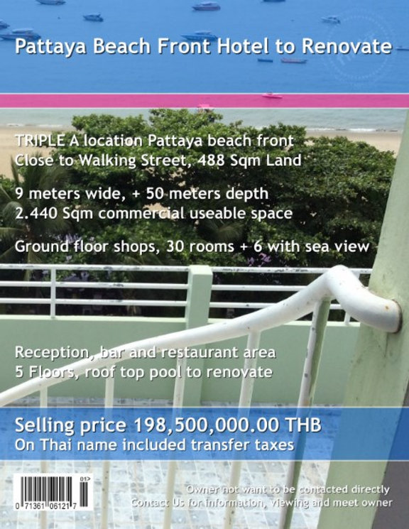 Pattaya Beach Front Hotel to Renovate 01