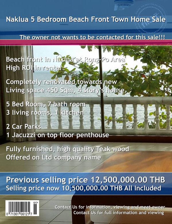Naklua Town home Beach front (15).jpg