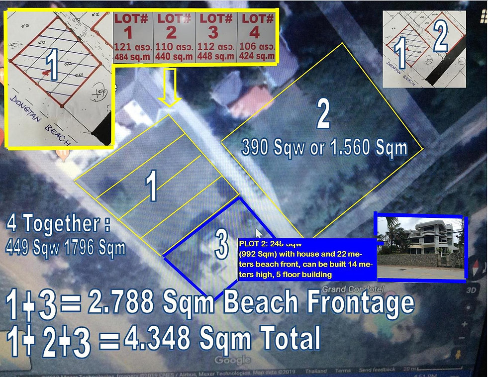 Land plots beach front with house.jpg