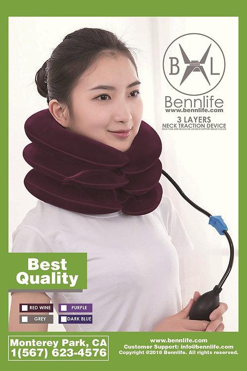 Bennlife賓尼生活  充氣3層頸椎牽引器