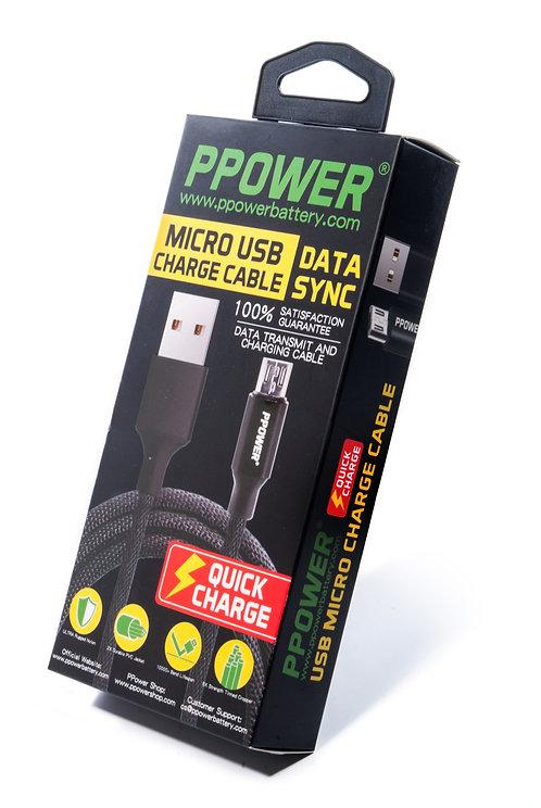 1條0.3M PPOWER MICRO USB 數據線