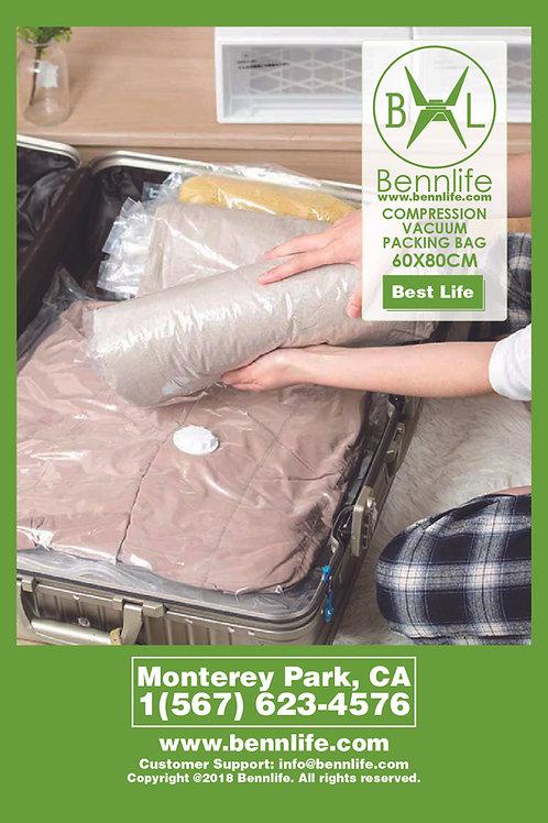 Bennlife賓尼生活 透明真空壓縮袋 -加厚耐用 (80X120CM) (1件)