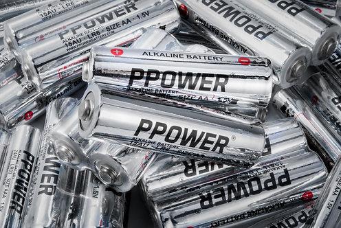 Ppower一次性特強鹼性AA電池