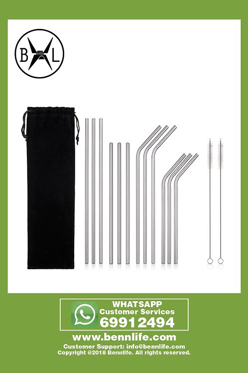 Bennlife賓尼生活 環保減塑,不銹鋼飲管套裝- (連黑色布袋)