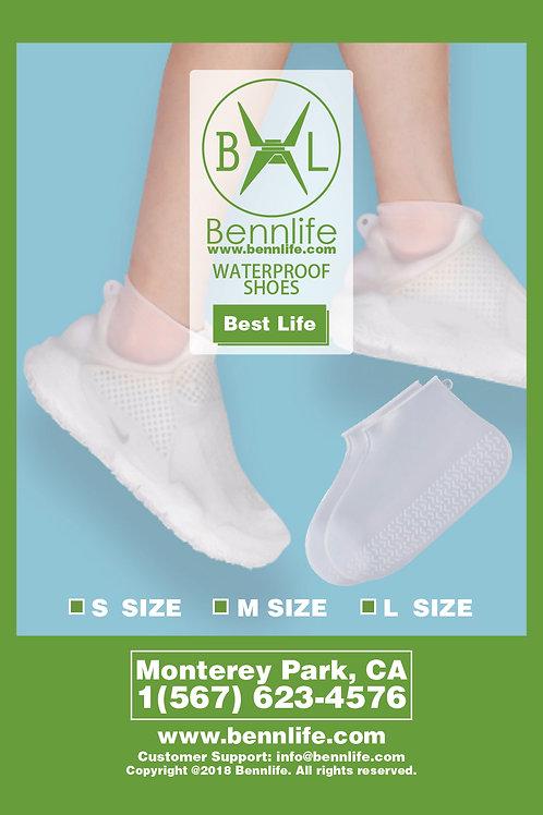 Bennlife 賓尼生活 矽膠透明 防水鞋套 , 適合大部分鞋 (中碼)