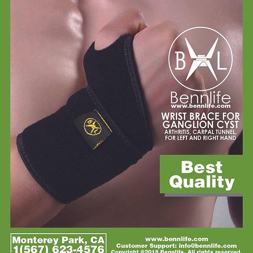 Bennlife賓尼生活  黑色運動護腕
