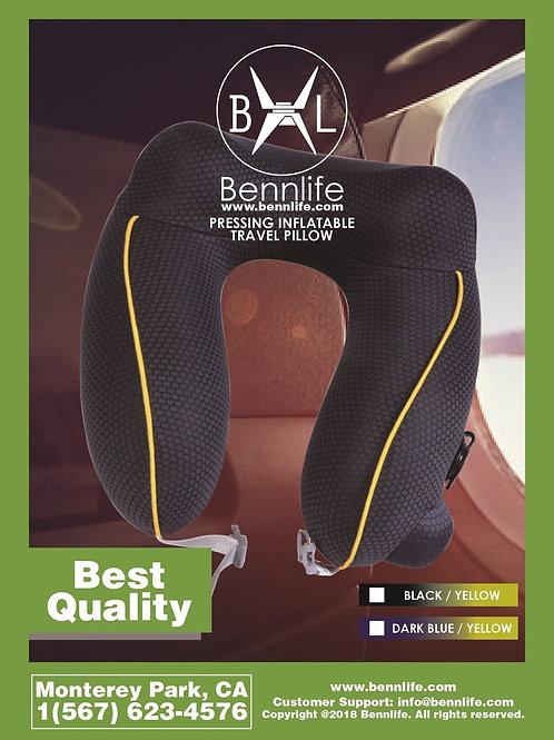 Bennlife賓尼生活  按壓式自動充氣枕